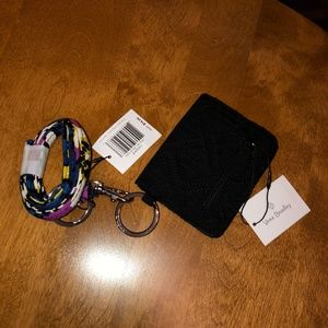 Vera Bradley Lanyard Campus Double ID NWT Black